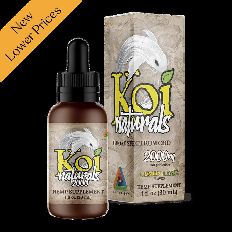 Koi CBD Naturals Hemp Extract CBD Tincture Lemon-Lime Flavored