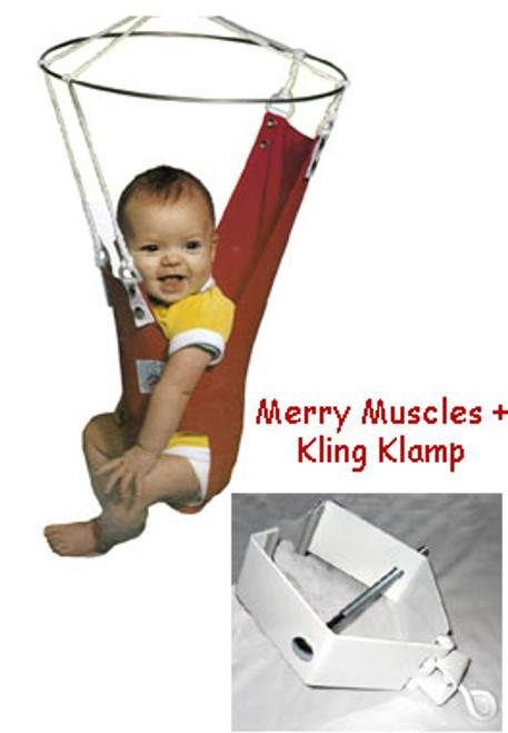 Merry Muscles Baby Exerciser -Blue + Kling Klamp
