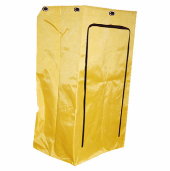 25 Gallon vinyl replacement bag for janitor's cart. Collect wet or dry items.