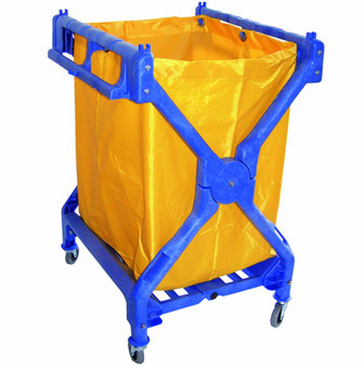 Folding Scissor Cart with 6 Bushel Vinyl Bag