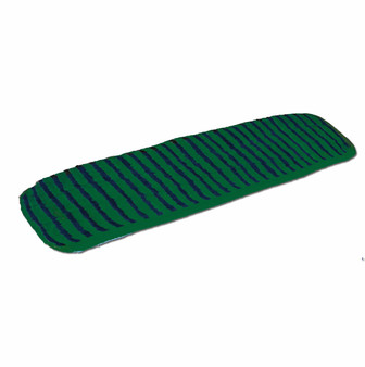 "Microfiber Flat Pad Wet  Mop Scrubber is a Premium split nylon/polyester blend microfiber that provides optimal damp mopping performance. . Advanced hook-and-loop backing attaches pads more securely. Size is 5¼"" x 18½""."