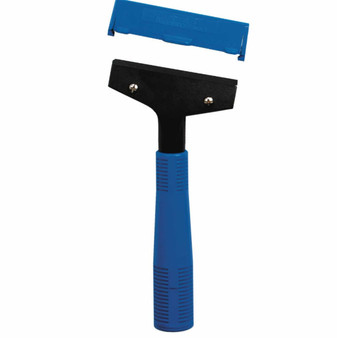 "Scraper for Floor and Window with Aluminum Handle, includes the 4"" Blade & Blade Cover.   8"" Overall length.Minimum Order: 2 each"