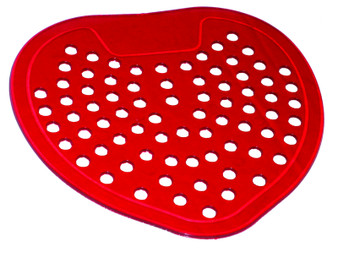 Vinyl Flat Urinal Screen 12 each-odor is Cherry