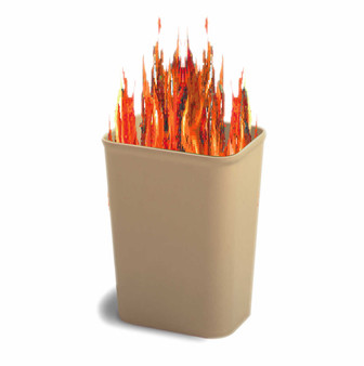 ResistsMelting down and contains fire.
