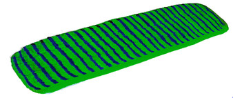 Flat Mop Microfiber Pad 24 inch color blue-green