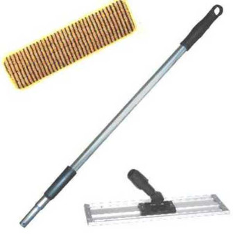 "24"" Scrub Strip Mop Kit @ $44.00 on sale @$39.50 comes with  3 Yellow Scrub Pads, one 58"" Aluminum Pole, and a 24"" Flat Micro-mop Pad Holder."