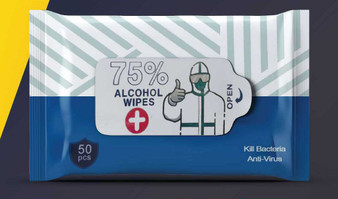 4 pack- 75% Alcohol Wipes