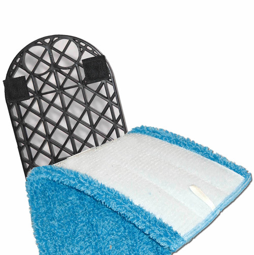 Dust Grid Frame with Nylon Hooked Tape hold Flat Mop Pads Tight