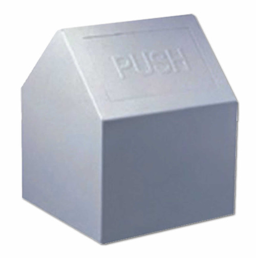 """Metal Feminine Products Disposal Container withMetal liner; access from 2 sides  9.25""""x  9"""" L x 11.5"""" H"""