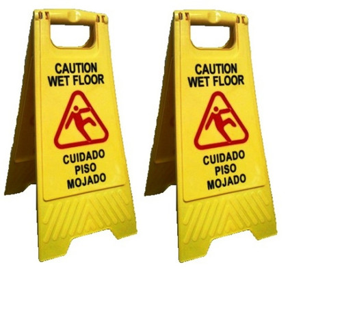 Easel Style Folding Caution Signs Set of 2