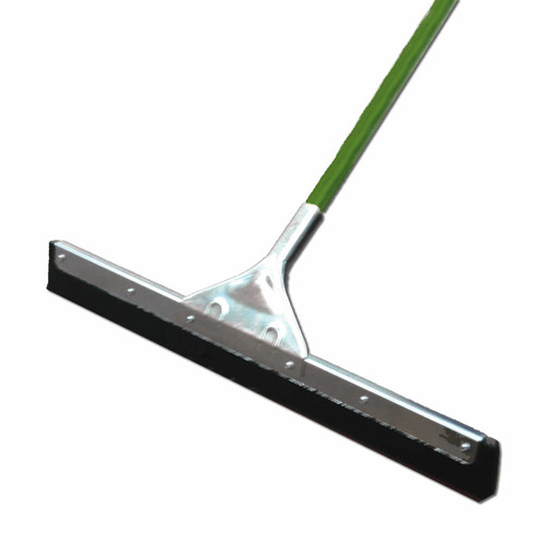 "Squeegee 24"" straight blade is ideal for cleaning grout and tile crevices. FREE 1"" x 54"" aluminum handle with 5"" grip. 58"" overall. Shipped knocked down for economical freight.Minimum Order: 2 Squeegees per Order."