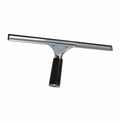 Stainless Steel Window squeegee with changeable aluminum channel and rubber blade in various sizes from 6 inch blade to 22 inch blade. Select 2 sizes.