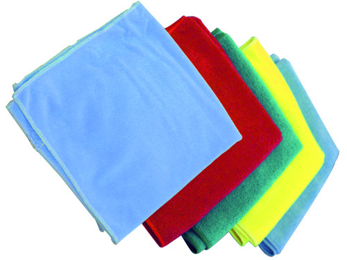 Microfiber Cloths 5 pack. Select from Blue, Red, Green, Yellow or BL-Suede.