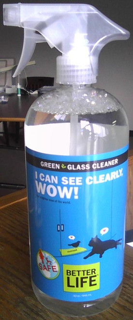 Hard Surface  & Glass Cleaner in 2 pack - Biodegradable 32 oz. w/adjustable sprayer. Leaves nothing but the sparkle.
