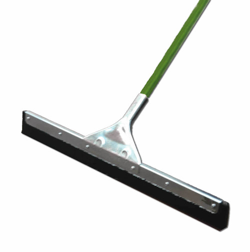 24 inch moss rubber floor squeegee with 54 in handle.