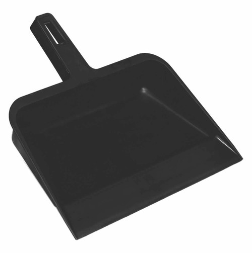 Heavy duty, sturdy dustpan with a smooth lip which contacts the floor for easy pick up of dust and dirt.
