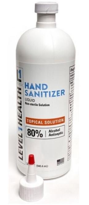 32 ounce Hand Sanitizer Liquid non-gel.