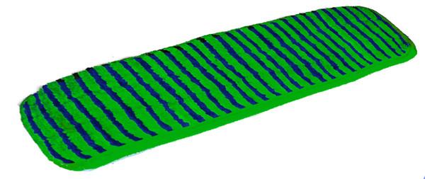 Flat Mop Microfiber Pad 24 inch color blue-green