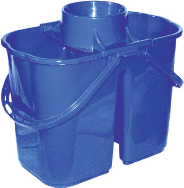 16 quart combo mop bucket does NOT contain metal parts. Perfect for institutions and healthcare facilities. PRISON-SAFE