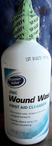 Zinc Wound Wash first Aid Cleanser gently cleans away dirt without scrubbing 4 fl ounces.