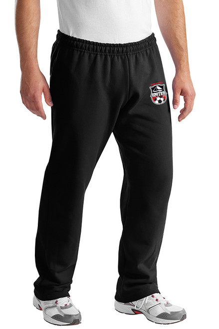 Northweest United Open Bottoms Sweatpants, Black