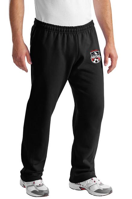 Northweest United Open Bottoms Sweatpants, Black