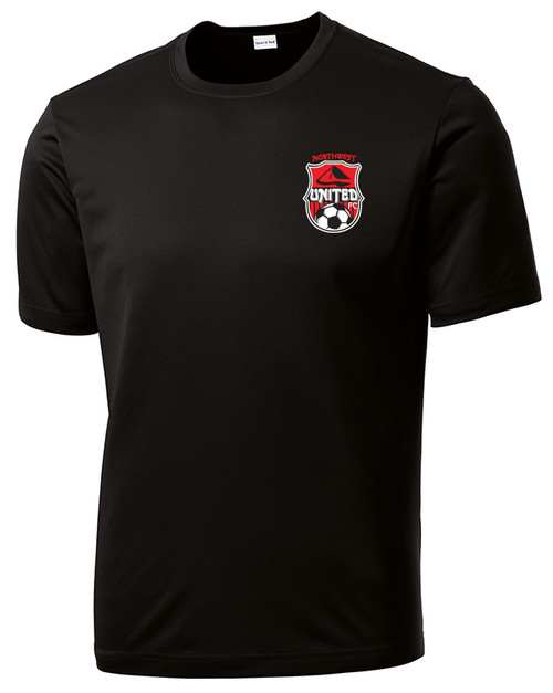 Northwest United Fan Tech T-Shirt, Front, Black