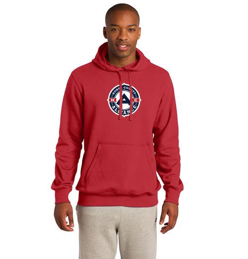 NCA Mens Hoodie, Front - Red
