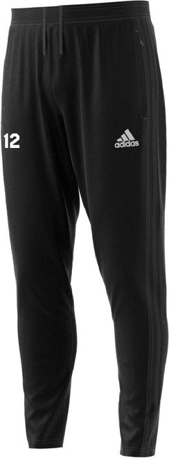 adidas Condivo 18 Pants, Black, Front (Mens)
