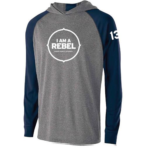 "NCA Mens Echo Hoodie ""I Am A Rebel"""