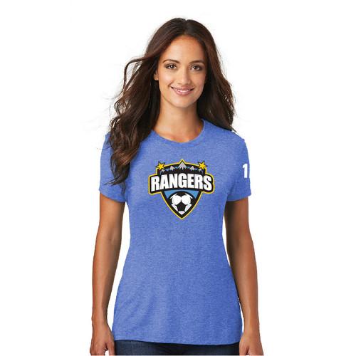 Rangers Fan Tri-Blend Tee (Womens)