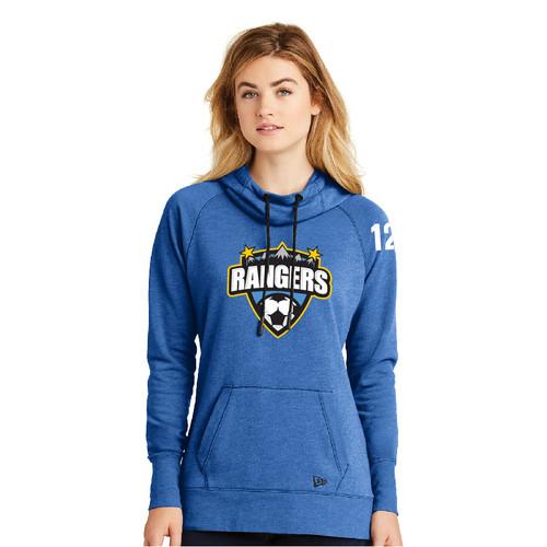 Rangers Womens Tri-Blend Fleece Pullover Hoodie