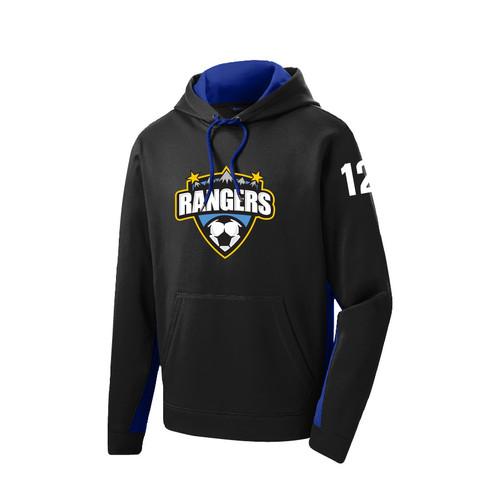 Rangers Fleece Colorblock Hooded Pullover