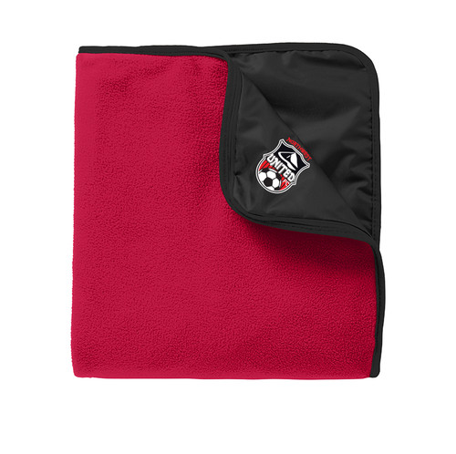 Northwest United Fleece/Nylon Blanket - Red/Black