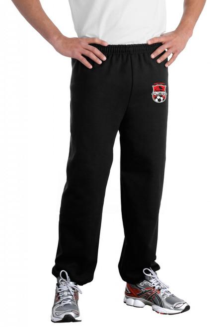 Northwest United Elastic Bottom Sweatpants, Black