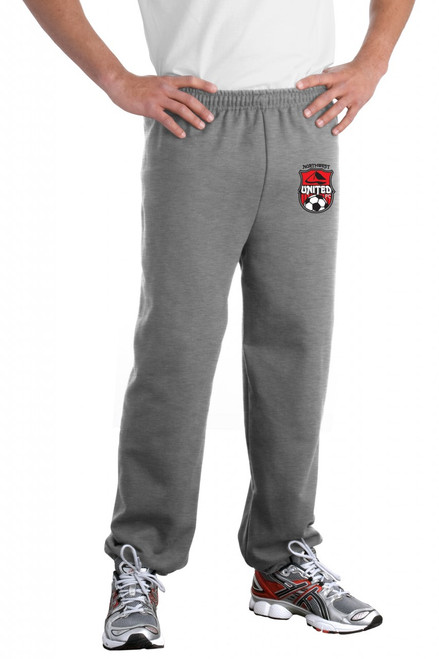 Northwest United Elastic Bottom Sweatpants, Sport Grey