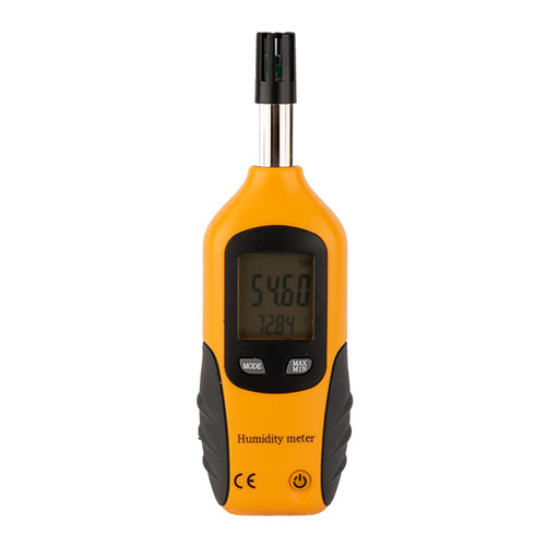 Image of Yellow Temperature and Humidity Meter by Crawl Space Ninja