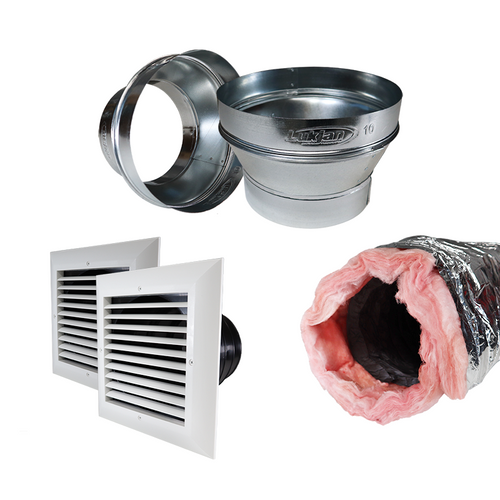 Aprilaire 5546 8-Inch Living Space Duct Kit with Reducers
