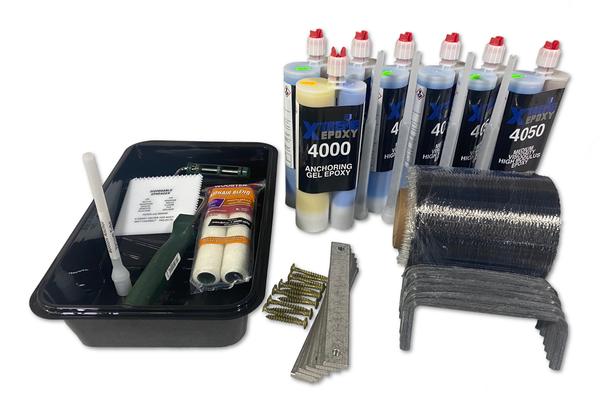 Carbon Fiber Wall Repair 6 Strap Kit