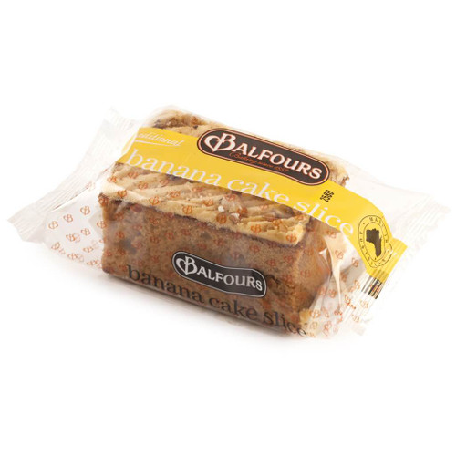 The Australian made Balfours Banana cake slice is packed full of banana goodness with a creamy frosting. Individually wrapped.