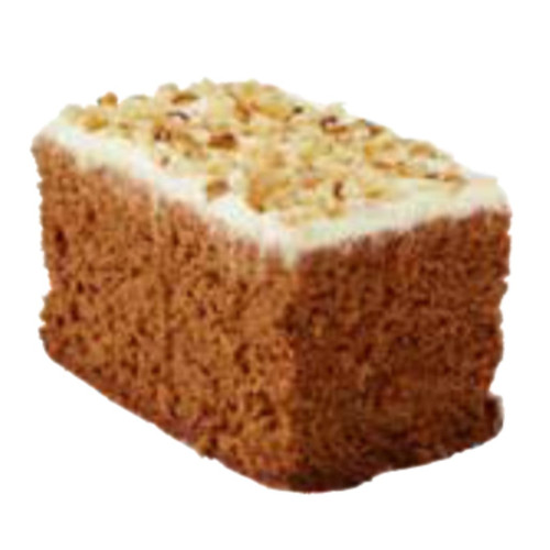 Balfours carrot cake is a delicious cake with carrot and a hint of coconut. Topped with creamy icing and crushed walnuts. Individually wrapped.