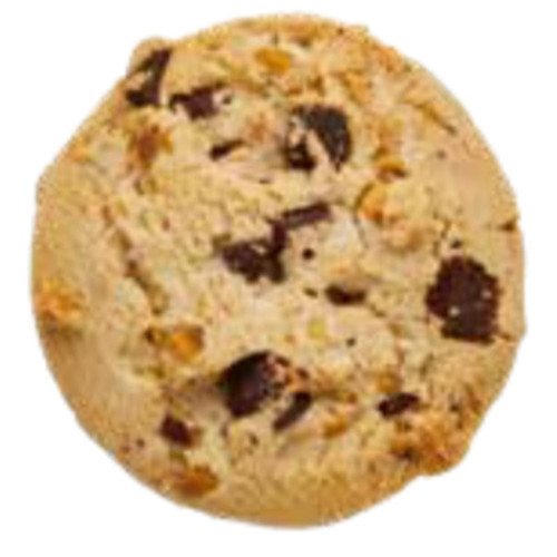 A crumbly cookie packed with white and dark chocolate pieces.