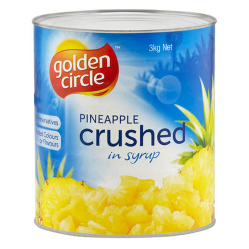 Our crushed pineapple in juice. It contains no added sugar, no artificial flavours, colours or preservatives. Australian grown fruit.