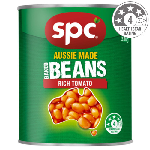 SPC baked beans are a great source of protein and fibre. Our Aussie made beans are low in fat. The wonder beans are a great contribution towards your recommended vegetable intake.