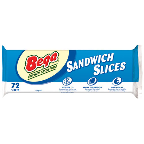 Bega slices are flavoursome processed cheese slices with a smooth and creamy texture and a rich cheesy flavour. Each slice contains 62-65% real cheese.