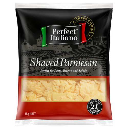 Perfect Italiano parmesan is an authentic Italian style cheese. It is perfect for adding bold flavour to your pasta and salads.