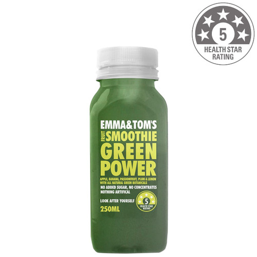 We've all become infatuated with green smoothies and for a great reason. Green Power has a range of natural botanicals including spirulina and chlorella that provide B vitamins, which are crucial for those don't eat meat. The blend of banana, Passion Fruit, plum and a hint of lemon give the smoothie a hearty flavour. Ingredients: Apple juice, banana puree, Passion Fruit pulp, plum puree, lemon juice, spirulina, chlorella, alfalfa, kelp, spinach, dulse seaweed.