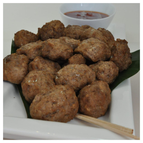 Our 3.5 star, pre cooked Beef and oregano meatballs. Just heat and serve.