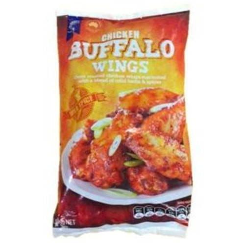 The delicious Buffalo Wings are oven roasted to perfection and marinated in a blend of mild herbs and spices.