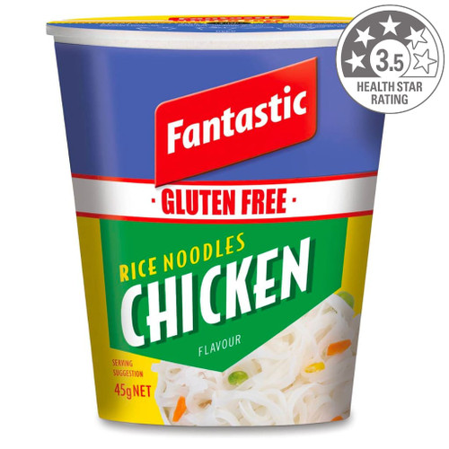Fantastic chicken noodles are the perfect snack or meal option for after school, work, camping or home. Ready within 3 minutes.
